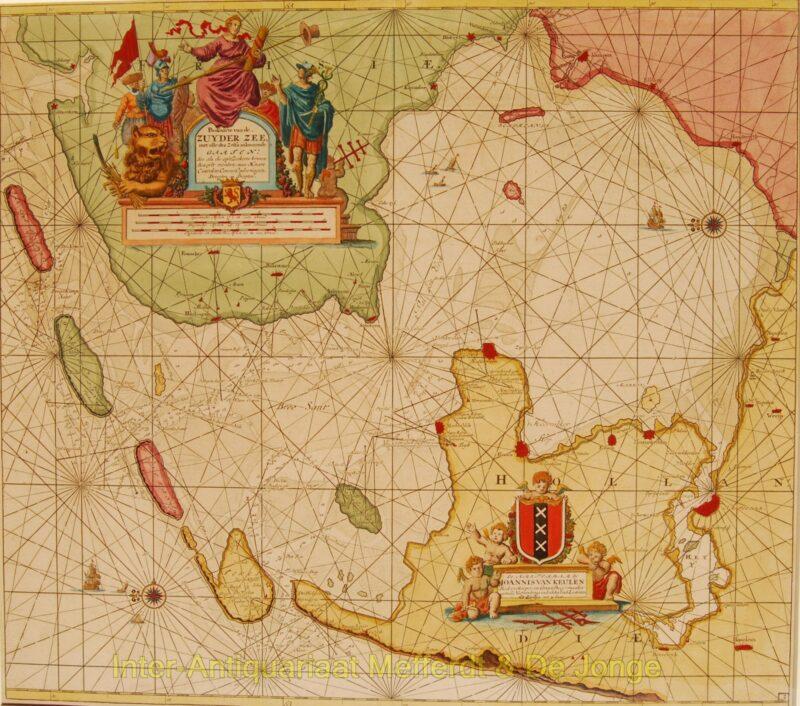 Zuiderzee antieke zeekaart – Van Keulen, na 1680
