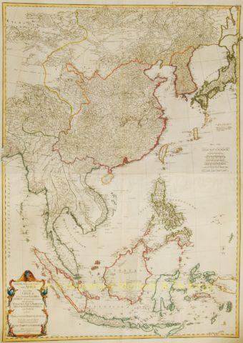 East Asia antique map – Schraembl, 1786