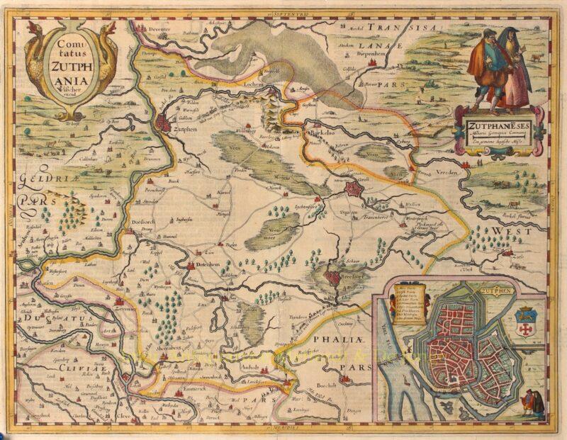 Gelderland, Graafschap Zutphen – Claes Jansz. Visscher, 1634