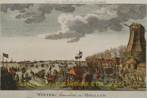 ijsgezicht – Dutch winter/ice skating scene