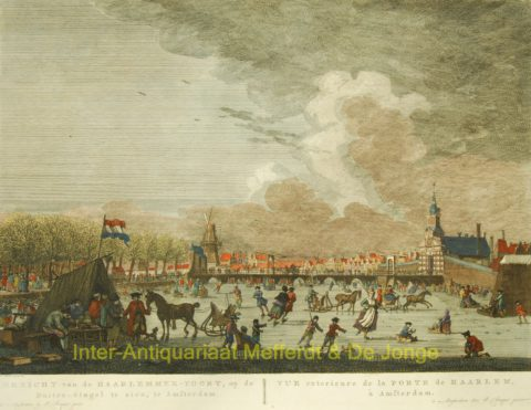 Amsterdam, Haarlemmer poort, winter scene – Fouquet, Schouten, 1783