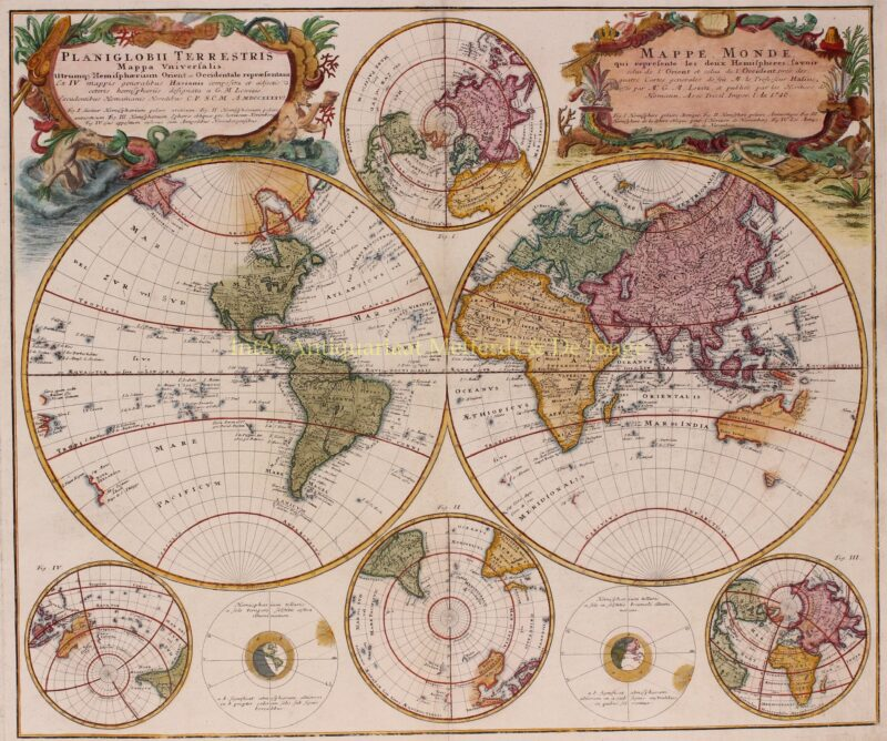 World map – Homann heirs, 1746
