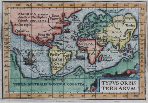 World map – Ambrose and Ferdinand Arsenius, Michel Coignet, 1601