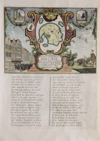 Mississippi Bubble, the Mad-head Island – anonymous, 1720