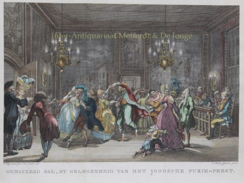 Purim – Caspar Philips Jacobsz. after Pieter Wagenaar jr., 1780