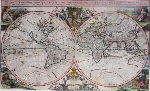 World map – Johann Hoffmann, 1675