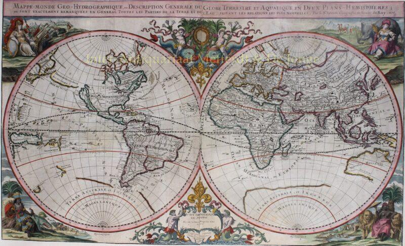 World map – Johann Hoffmann, 1675