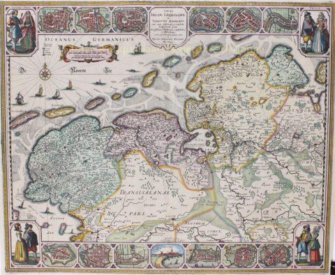 Friesland, Groningen – Abraham Goos, Claes Jansz. Visscher, 1633