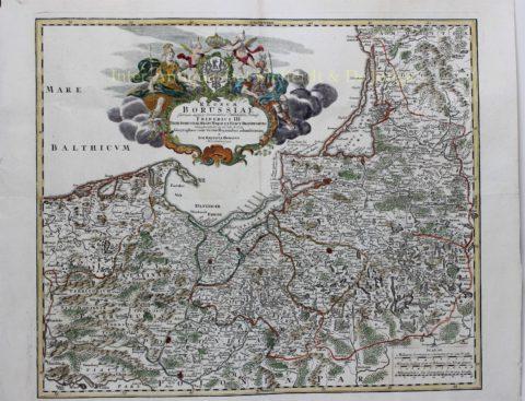 Poland, Kaliningrad/Königsberg (Pomerania and East Prussia) – Johann Baptiste Homann, c. 1710