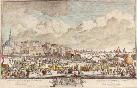 IJsgezicht Rotterdam – Paulus Constantijn la Fargue, 1763