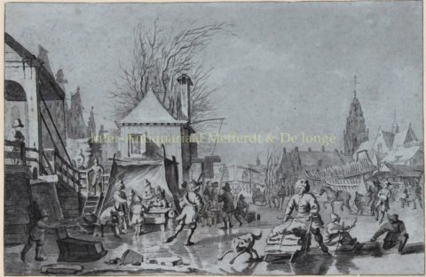 Meijer, Hendrik – Dutch ice skating/winter scene