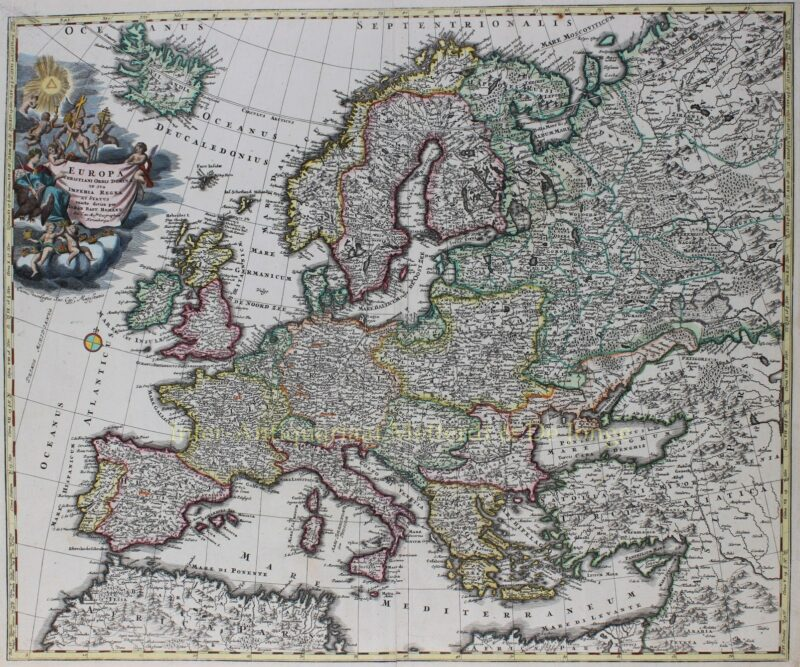 Europa – Johann Baptiste Homann, ca. 1720
