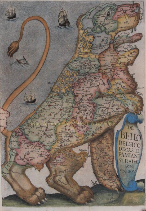 Leo Belgicus – Francisco Corbelletti/Famiano Strada, 1647