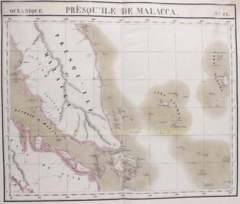 Malacca, Singapore – Philippe Vandermaelen, 1827