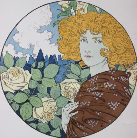 """Jalousie"" – Eugène Grasset, 1897"