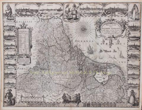 Seventeen Provinces – Abraham Goos + Jan Jansson, 1631