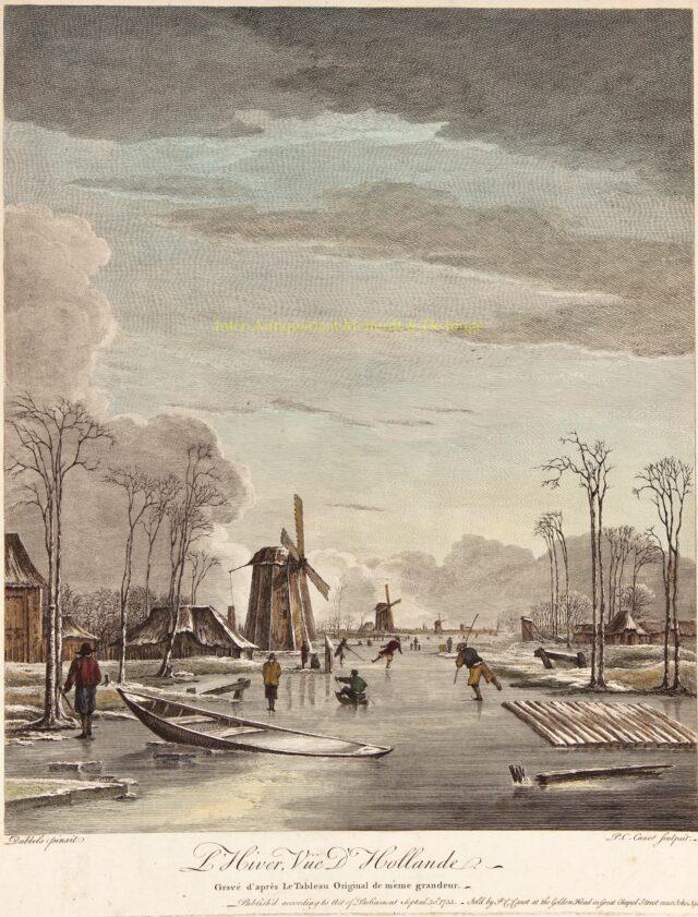 Wintergezicht - naar Hendrik Jacobsz Dubbels