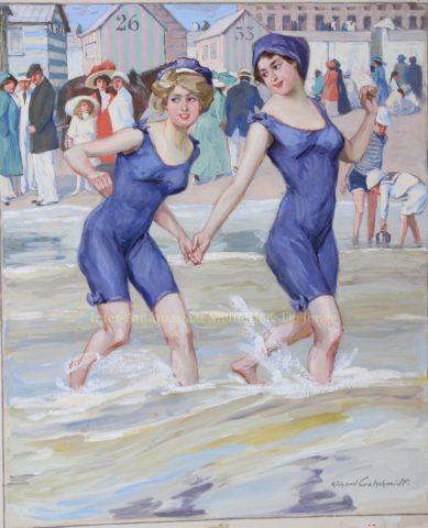 """""""Männerfang"""" – Richard Gutschmidt (Meggendorfer Blätter), 1911"""