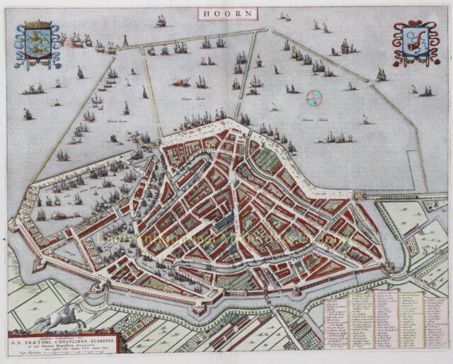 antique map of Hoorn