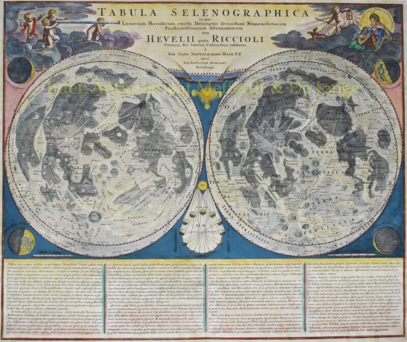 Map of the moon – Johann Baptiste Homann, Johann Gabriel Doppelmayr, 1742/48