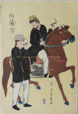 The Dutch in Japan – Utagawa Yoshikazu, c. 1860
