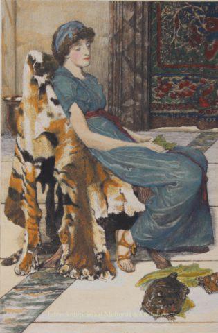 Quiet Pets – Lawrence Alma-Tadema, 1882
