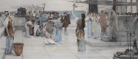 Dedication to Bacchus – Lawrence Alma-Tadema, 1892