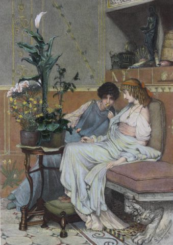 Confidences – Lawrence Alma-Tadema, 1875