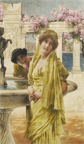 A Difference of Opinion – Lawrence Alma-Tadema, 1897