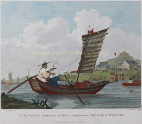 Chinese waterman – after William Alexander, 1796