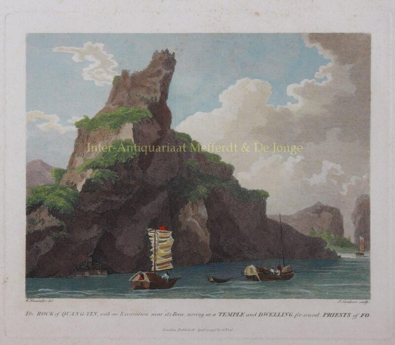 China, Rock of Quang-Yin – after William Alexander, 1796