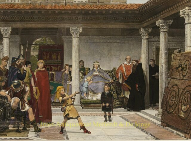 Education of the Children of Clothilde and Clovis - Alma-Tadema