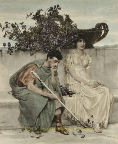 Eloquent Silence – Lawrence Alma-Tadema, 1891