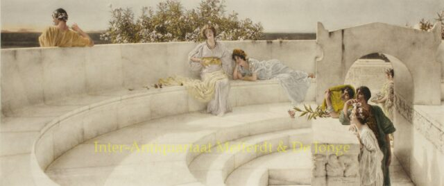 UNDER THE ROOF OF BLUE IONIAN WEATHER - Alma-Tadema