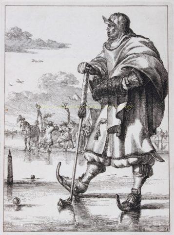 Colf player – Romeyn de Hooghe, ca. 1679-1685