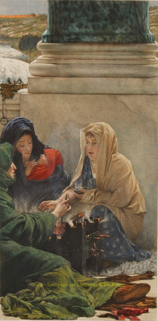 THE SEASONS: A ROMAN IDYLL-WINTER  - Alma-Tadema