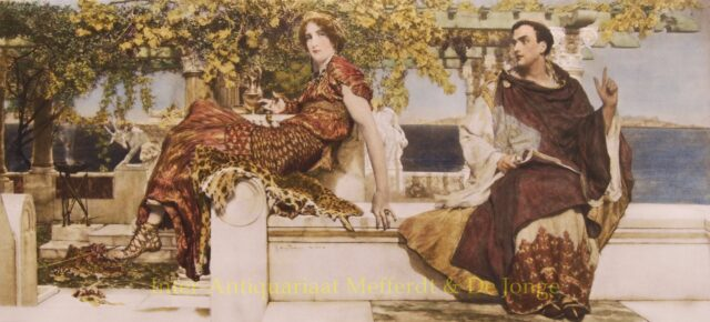 THE CONVERSION OF PAULA BY ST. JEROME - Alma-Tadema