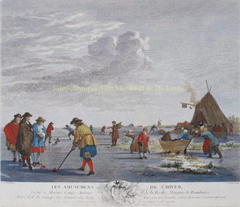 Winter amusements – after Adriaan van de Velde, c. 1770