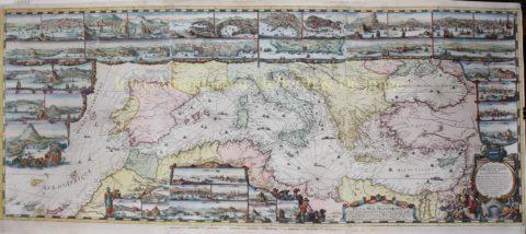 Mediterranean Sea – Romeijn de Hooghe + Pieter Mortier, 1694