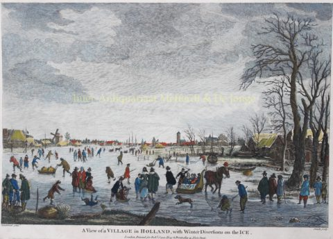 Dutch winter scene – after Aert van der Neer, c. 1770