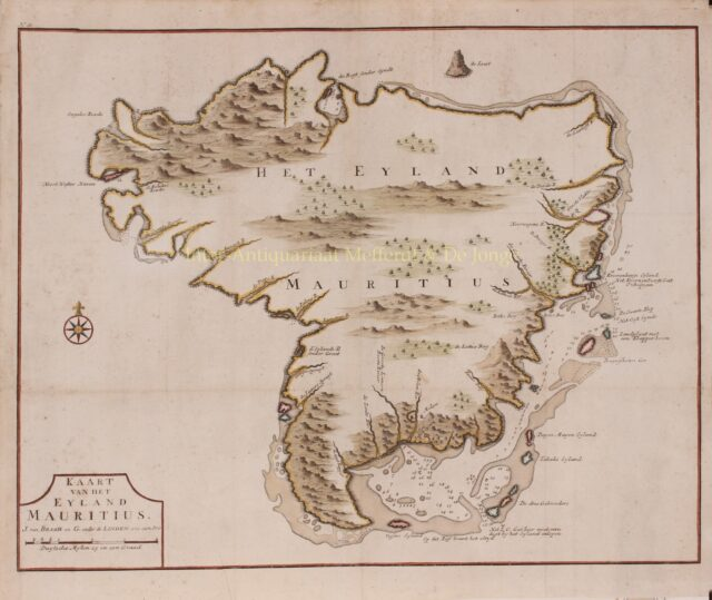 antique map of Mauritus