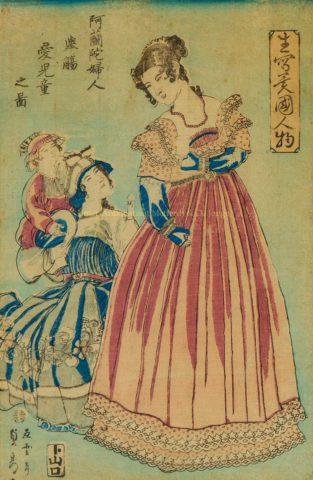 The Dutch in Japan – Yokohama-e, ca. 1860