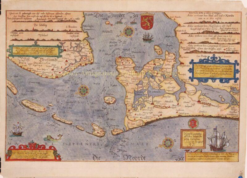 North Sea, Zuiderzee – Lucas Jansz. Waghenaer, ca. 1590