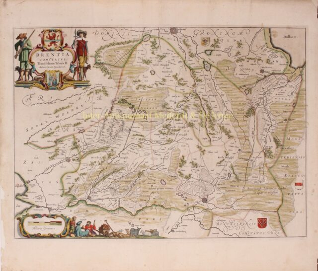 17th century map of Drenthe published by Joan Blaeu