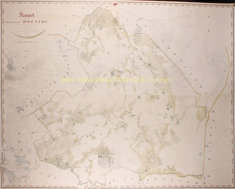 Wall map Drenthe – Anthony Wernecke, 1840