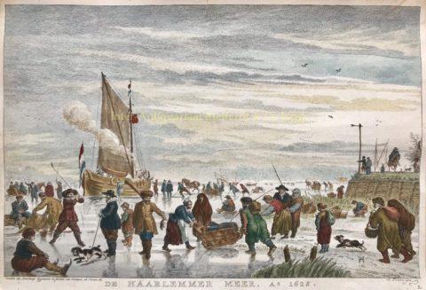 Winter scene of the Haarlemmermeer – Simon Fokke after Hendrick Avercamp, mid-18th century