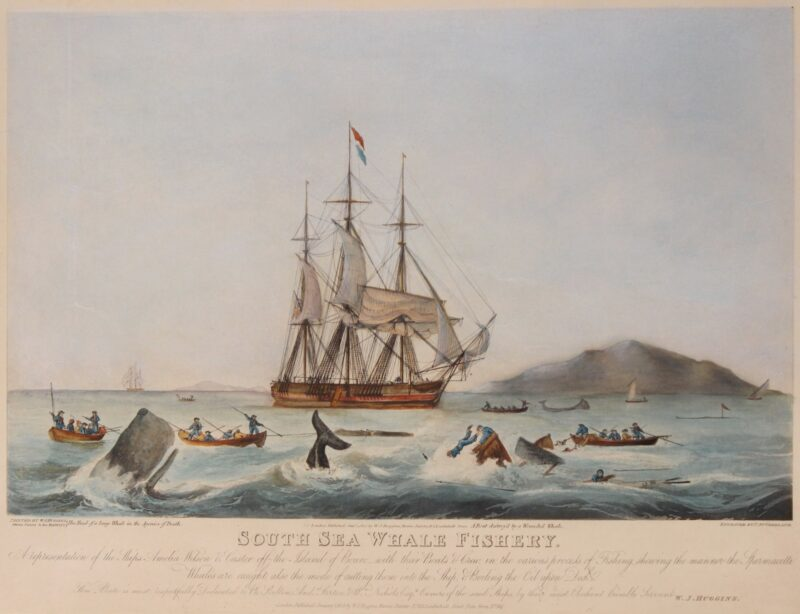 Whaling – Thomas Sutherland after William John Huggins, 1825