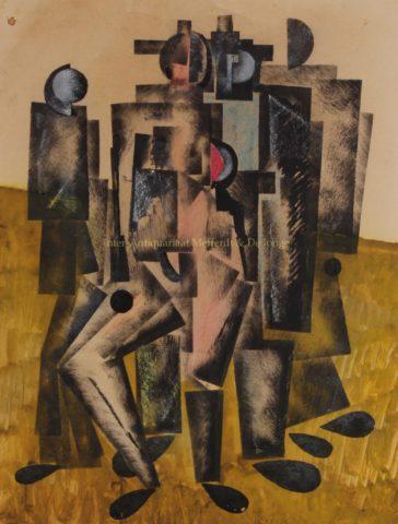 """A happy crowd"" – Vladimir Lebedev, ca. 1920"