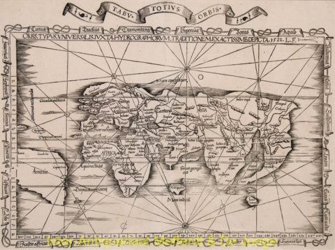 World antique map – Laurent Fries, 1535
