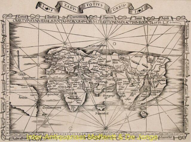 World antique map - Laurent Fries